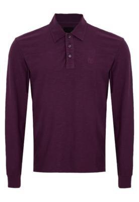 Camisa Polo Bordado Roxa - Calvin Klein Jeans