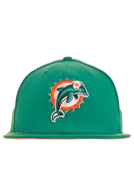 Boné New Era 59Thirty NFL Evergreen Miami Dolphins Team Col...
