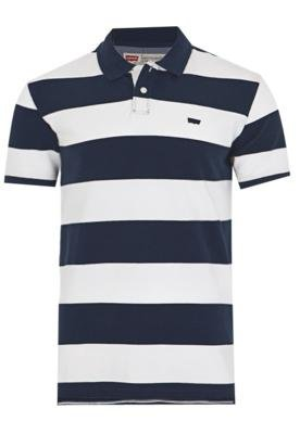 Camisa Polo Levi's Listras Branca - Levis
