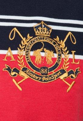 Camisa Polo Aleatory Kids Brasão Listra
