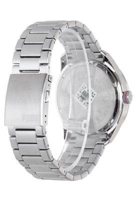 Relógio Puma Slice - L Prata/Preto