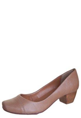 Sapato Scarpin Raphaella Booz Salto Baixo Bico Quadrado Basi...