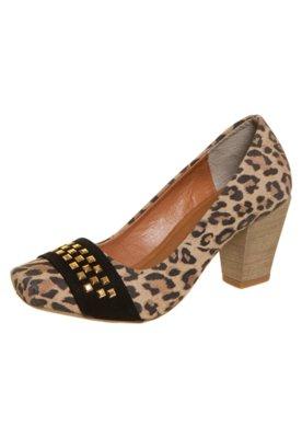 Sapato Scarpin FiveBlu Hotfix Onça