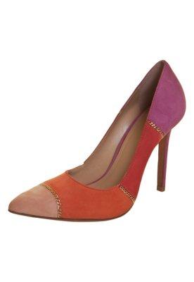 Sapato Scarpin My Shoes Correntes Rosa