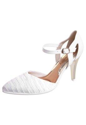 Sapato Scarpin Piccadilly Semi Aberto Branco