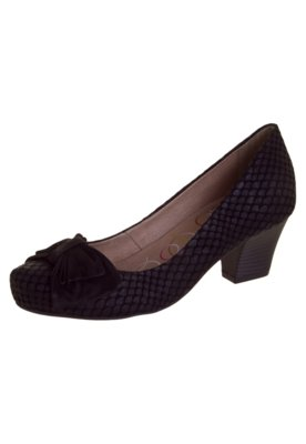 Sapato Scarpin Bottero Laço Salto Baixo Preto