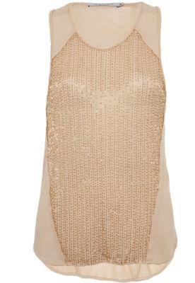 Blusa Espaço Fashion Canutilhos Bege