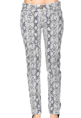Calça Jeans Colcci Edna Animal Branca
