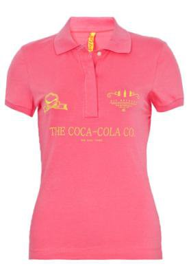 Camisa Polo Coca-Cola Clothing Small Bordado Rosa - Coca Col...