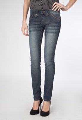 Calça Jeans TNG Skinny Datails Azul