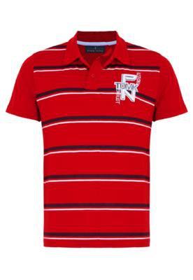 Camisa Polo Pier Nine Original Vermelha
