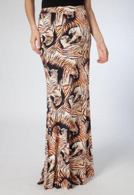 Saia Longa Evase Tiger Bege - Triton