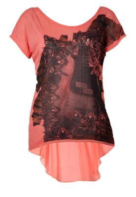 Blusa Espaço Fashion Silk Mono Laranja