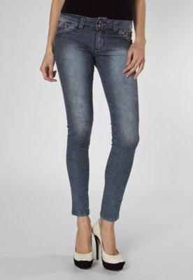 Calça Jeans NightStar Braid Skinny Azul