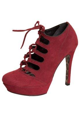Ankle Boot Vazada Amarração Vermelha - Crysalis