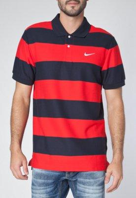 Camisa Polo Nike Classic Stripe Pique University Azul