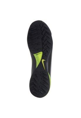 Chuteira Society Nike Mercurial Victory III TF Preta e Verde