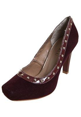 Sapato Scarpin FiveBlu Cravos Vinho