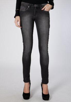 Calça Jeans Cavalera Legging Noir Preta