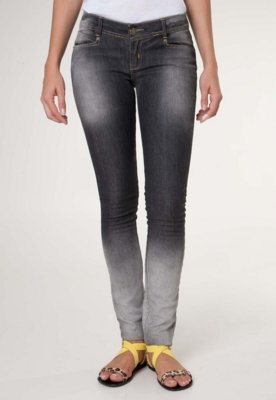 Calça Jeans Pink Connection Degrau Skinny Cinza