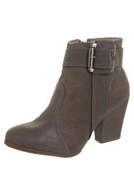 Ankle Boot Fivela Lateral Cinza - Bebecê