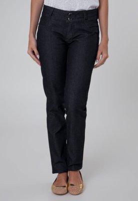 Calça Jeans Sawary Skinny Bordada Azul
