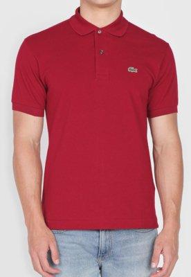 Camisa Polo Lacoste Basic Vinho