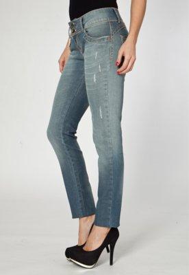 Calça Jeans Skinny Lança Perfume American Azul