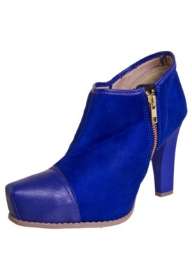 Ankle Boot Azaleia Navio Zíper Azul