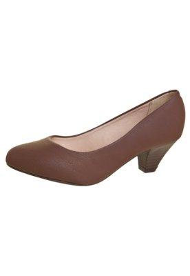 Sapato Scarpin Beira Rio Conforto Salto Médio Básico Marro...