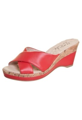Sandália Malu Super Comfort Di Base Vermelha