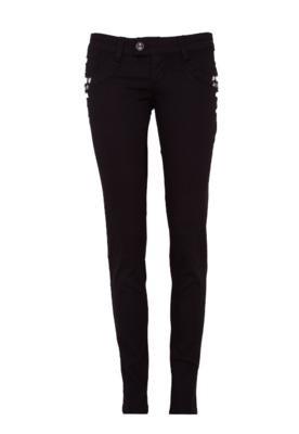 Calça Jeans Sawary Skinny Pedrarias Preta