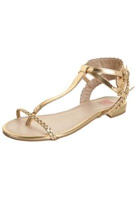 Sandália Pink Connection Dourada