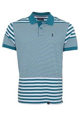 Camisa Pólo Pier Nine Bordado Azul
