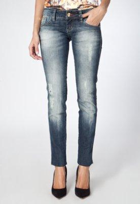 Calça Jeans Coca-Cola Clothing Cropped Elástica Puídos Az...