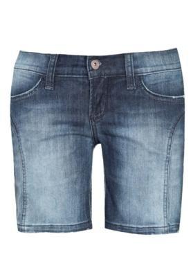 Bermuda Jeans Triton Didi Rebite SPike Azul