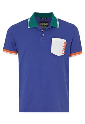 Camisa Polo Brasil Color Azul - Coca Cola Clothing