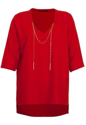 Blusa SPezzato Cabriere Vermelha