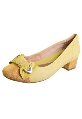 Sapato Scarpin Ramarim Laço Amarelo