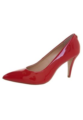 Sapato Scarpin Jorge Bischoff Bico Fino Verniz Vermelho