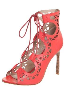 Sandália Lilly's Closet Gladiadora Vazada Vermelha