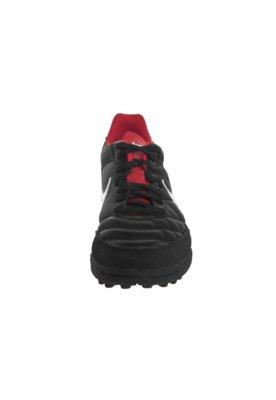 Chuteira Society Nike Tiempo Natural IV LTR TF Preta