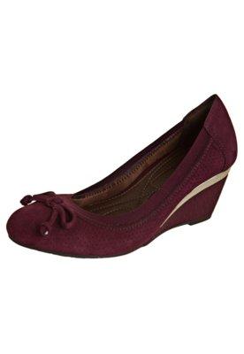Sapato Scarpin Ramarim Total Comfort Anabela Elástico Vinho
