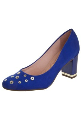 Sapato Scarpin Moleca Flex Class Azul