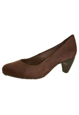 Sapato Scarpin Ramarim Salto Médio Liso Marrom