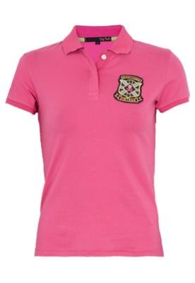 Camisa Polo Pop Touch Rugby League Rosa