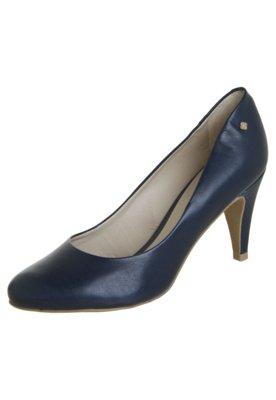 Sapato Scarpin Capodarte Salto Médio Básico Azul