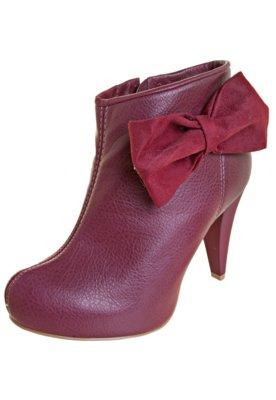 Ankle Boot Laço Vermelha - Dijean