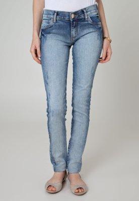 Calça Jeans Colcci Skinny Push Up Alvejada Azul