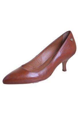 Sapato Scarpin Corso Como Bico Fino Salto Baixo Marrom
